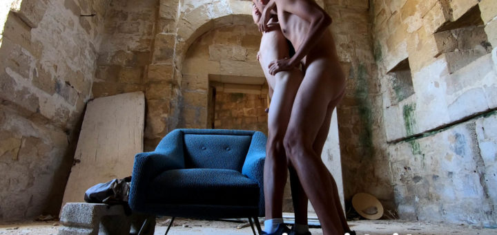 Asian Boy and Fit Stud Having Hot Gay Sex in Abandoned Castle