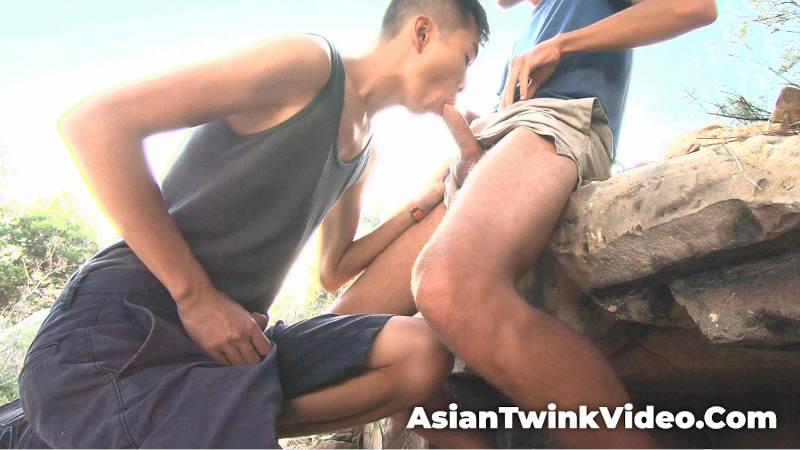 Twink Sucks Cock in Mediterranean Heat