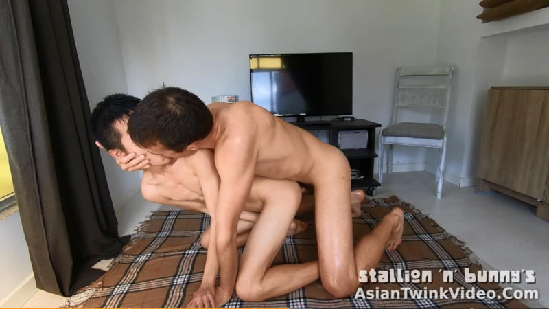 Gay Asian Boy Oiled Up and Fucked
