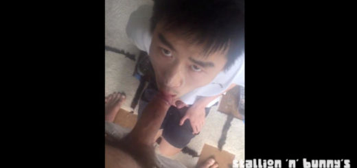 Asian Twink Sucks His Boyfriend After Workout
