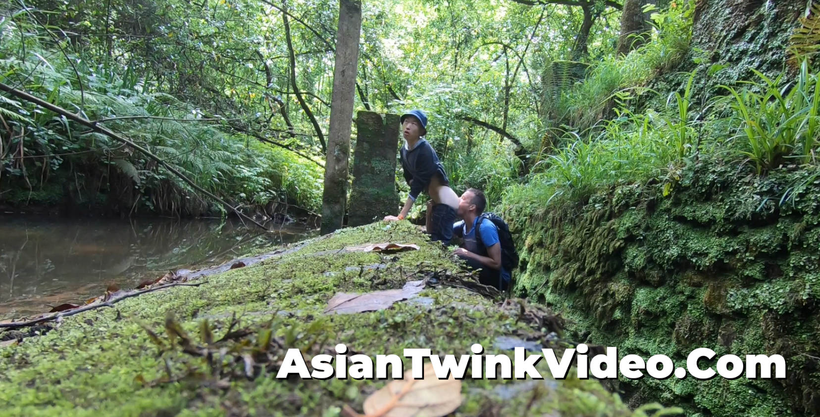 Asian twink PoW fucked in the jungle