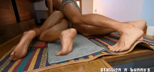 White Stud Dominating & Breeding a Young Asian Twink's Ass