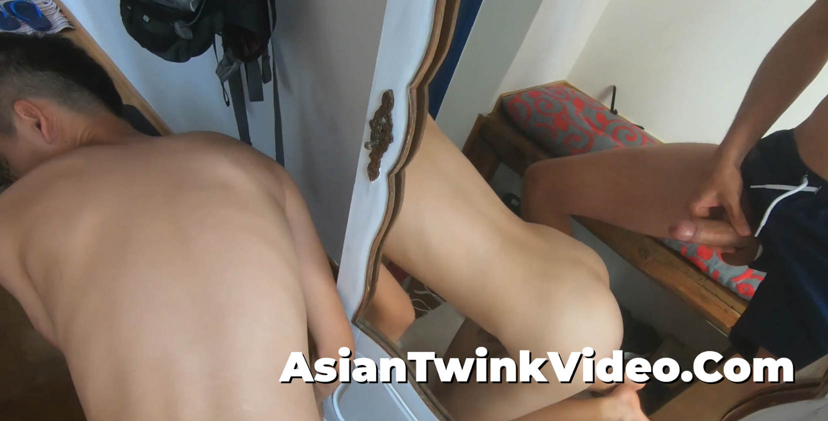 Dominating My Sub Twink By the Mirror