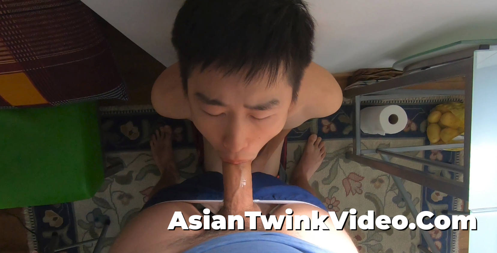 Fucking an Asian Twink's Mouth and Shooting Cum in his Eye