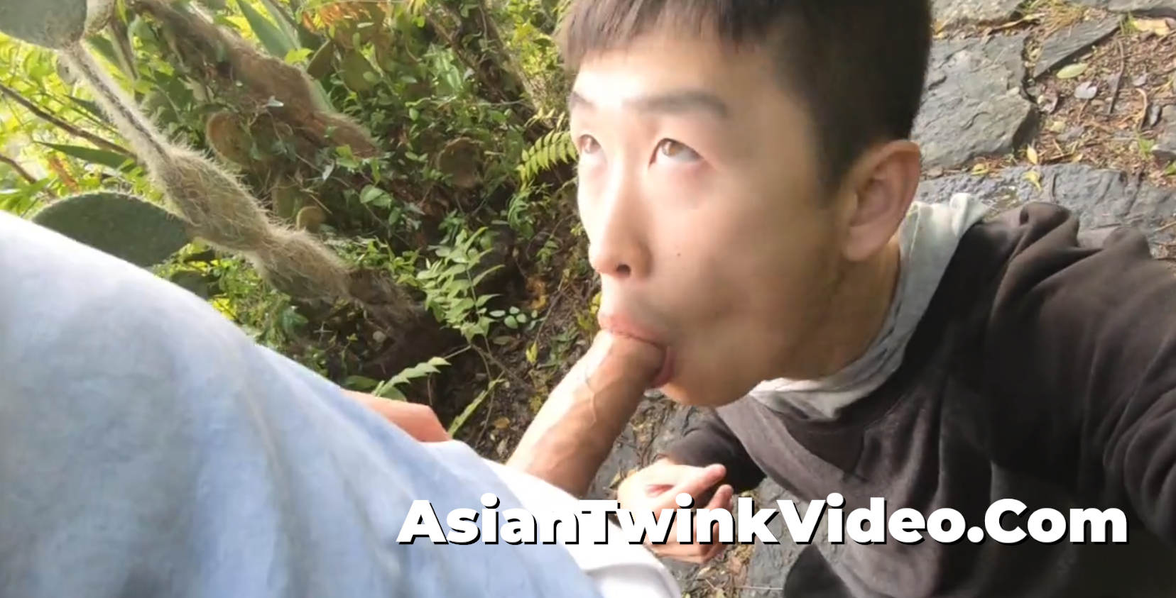 Cute Twink Sucks a Sexy Stud in the Park