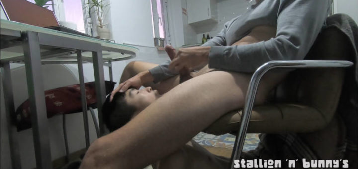 He is Sucking My Cock While I Watch Porn